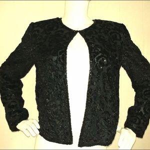Black Sequined Jacket - Evening